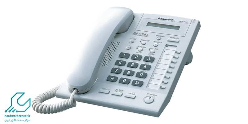 ذخیره کردن شماره در تلفن سانترال kx-t7665