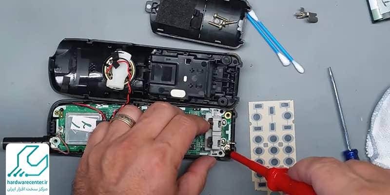 مراحل تمیز کردن صفحه کلید تلفن پاناسونیک